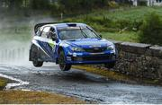 16 June 2018; Darren Gass and Enda Sherry in a Subaru Impreza WRC S14 during stage 8 Knockalla of the Joule Donegal International Rally Day 2 in Letterkenny, Donegal. Photo by Philip Fitzpatrick/Sportsfile