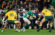 16 June 2018; Cian Healy of Ireland in action against Tolu Latu, left, and Lukhan Tui of Australia during the 2018 Mitsubishi Estate Ireland Series 2nd Test match between Australia and Ireland at AAMI Park, in Melbourne, Australia. Photo by Brendan Moran/Sportsfile