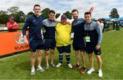16 June 2018; Anto Byrne of Eastern 3 with Dublin footballers, from left, Brian Fenton, Brian Howard, Jack McCaffrey and Eoin Murchan during the Special Olympics 2018 Ireland Games at the FAI National Training Centre in Abbotstown, Dublin. Photo by Ramsey Cardy/Sportsfile