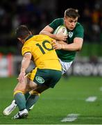 16 June 2018; Garry Ringrose of Ireland is tackled by Bernard Foley of Australia during the 2018 Mitsubishi Estate Ireland Series 2nd Test match between Australia and Ireland at AAMI Park, in Melbourne, Australia. Photo by Brendan Moran/Sportsfile