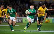 16 June 2018; Keith Earls of Ireland makes a break during the 2018 Mitsubishi Estate Ireland Series 2nd Test match between Australia and Ireland at AAMI Park, in Melbourne, Australia. Photo by Brendan Moran/Sportsfile