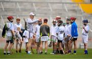 16 June 2018; Bord Gáis Energy Rewards Club winners attended the Bord Gáis Energy #HurlingToTheCore training camp in Páirc Uí Chaoimh today where they had the chance to meet hurling stars and Bord Gáis Energy ambassadors Alan Cadogan of Cork, Paudie Feehan of Tipperary and Fergal Whitely of Dublin. Pictured is Fergal Whitely of Dublin speaking to players during the camp. All attendees were members of the Bord Gáis Energy Rewards Club, which offers its customers unmissable rewards throughout the Championship season, including match tickets and hospitality, access to training camps with Hurling stars and the opportunity to present Man of the Match Awards at U-21 games during the 2018 BGE #HurlingToTheCore training camp at Páirc Uí Chaoimh in Ballintemple, Cork. Photo by Eóin Noonan/Sportsfile