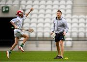 16 June 2018; Bord Gáis Energy Rewards Club winners attended the Bord Gáis Energy #HurlingToTheCore training camp in Páirc Uí Chaoimh today where they had the chance to meet hurling stars and Bord Gáis Energy ambassadors Alan Cadogan of Cork, Paudie Feehan of Tipperary and Fergal Whitely of Dublin. Pictured is Alan Cadogan of Cork during the camp. All attendees were members of the Bord Gáis Energy Rewards Club, which offers its customers unmissable rewards throughout the Championship season, including match tickets and hospitality, access to training camps with Hurling stars and the opportunity to present Man of the Match Awards at U-21 games during the 2018 BGE #HurlingToTheCore training camp at Páirc Uí Chaoimh in Ballintemple, Cork. Photo by Eóin Noonan/Sportsfile