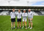 16 June 2018; Bord Gáis Energy Rewards Club winners attended the Bord Gáis Energy #HurlingToTheCore training camp in Páirc Uí Chaoimh today where they had the chance to meet hurling stars and Bord Gáis Energy ambassadors Alan Cadogan of Cork, Paudie Feehan of Tipperary and Fergal Whitely of Dublin. Pictured are Paudie Feehan of Tipperary, Alan Cadogan of Cork and former Cork goalkeeper Ger Cunningham at the camp. All attendees were members of the Bord Gáis Energy Rewards Club, which offers its customers unmissable rewards throughout the Championship season, including match tickets and hospitality, access to training camps with Hurling stars and the opportunity to present Man of the Match Awards at U-21 games during the 2018 BGE #HurlingToTheCore training camp at Páirc Uí Chaoimh in Ballintemple, Cork. Photo by Eóin Noonan/Sportsfile