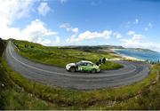 16 June 2018; Manus Kelly and Donall Barrett in a Subaru Impreza WRC S12B during stage 10 Knockalla of the Joule Donegal International Rally Day 2 in Letterkenny, Donegal. Photo by Philip Fitzpatrick/Sportsfile