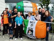 16 June 2018; Bocce athlete, Anthony Coleman from Coolock, Co Dublin, with family members at the Special Olympics 2018 Ireland Games at The National Indoor Arena, National Sports Campus in Abbotstown, Dublin. Photo by David Fitzgerald/Sportsfile