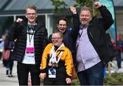 16 June 2018; Triple bronze medalist in gymnastics Sophie Carson, from Donaghadee, Co Down, with her family, from left, brother Ryan, mother Sharon and father Gary at the Special Olympics 2018 Ireland Games at The National Indoor Arena, National Sports Campus in Abbotstown, Dublin. Photo by David Fitzgerald/Sportsfile