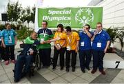 16 June 2018; A general view of the Bocce medal ceremony at the Special Olympics 2018 Ireland Games at The National Indoor Arena, National Sports Campus in Abbotstown, Dublin. Photo by David Fitzgerald/Sportsfile