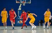 16 June 2018; George Fitzgerald of Munster in action against Patrick Hennessy of Ulster during their semi final basketball match at the Special Olympics 2018 Ireland Games at The National Indoor Arena, National Sports Campus in Abbotstown, Dublin. Photo by David Fitzgerald/Sportsfile