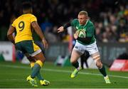 16 June 2018; Keith Earls of Ireland in action against Will Genia of Australia during the 2018 Mitsubishi Estate Ireland Series 2nd Test match between Australia and Ireland at AAMI Park, in Melbourne, Australia. Photo by Brendan Moran/Sportsfile