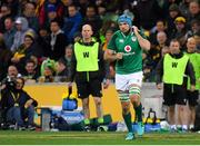 16 June 2018; Tadhg Beirne of Ireland of Ireland comes onto the pitch to make his debut during the 2018 Mitsubishi Estate Ireland Series 2nd Test match between Australia and Ireland at AAMI Park, in Melbourne, Australia. Photo by Brendan Moran/Sportsfile