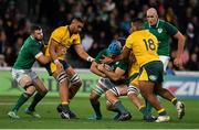 16 June 2018; Tadhg Beirne of Ireland of Ireland is tackled by Taniela Tupou of Australia during the 2018 Mitsubishi Estate Ireland Series 2nd Test match between Australia and Ireland at AAMI Park, in Melbourne, Australia. Photo by Brendan Moran/Sportsfile