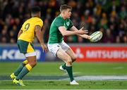16 June 2018; Garry Ringrose of Ireland in action against Will Genia of Australia during the 2018 Mitsubishi Estate Ireland Series 2nd Test match between Australia and Ireland at AAMI Park, in Melbourne, Australia. Photo by Brendan Moran/Sportsfile