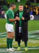16 June 2018; Rob Kearney, left, and Andrew Conway of Ireland after the 2018 Mitsubishi Estate Ireland Series 2nd Test match between Australia and Ireland at AAMI Park, in Melbourne, Australia. Photo by Brendan Moran/Sportsfile