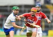 17 June 2018; Aidan Organ of Waterford in action against Niall O'Riordan of Cork during the Electric Ireland Munster GAA Hurling Minor Championship Round 5 match between Waterford and Cork at Semple Stadium in Thurles, Tipperary. Photo by Matt Browne/Sportsfile
