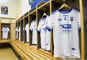 17 June 2018; The jersey of Michael Walsh of Waterford in the dressing room prior to his record breaking 74th consecutive Hurling Championship appearance ahead of the Munster GAA Hurling Senior Championship Round 5 match between Waterford and Cork at Semple Stadium in Thurles, Tipperary. Photo by Matt Browne/Sportsfile