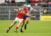 17 June 2018; Shane Barrett of Cork in action against Rory Furlong of Waterford during the Electric Ireland Munster GAA Hurling Minor Championship Round 5 match between Waterford and Cork at Semple Stadium in Thurles, Tipperary. Photo by Matt Browne/Sportsfile