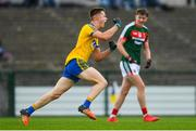 17 June 2018; Aidan Dowd of Roscommon celebrates after scoring his side's first goal of the game during the EirGrid Connacht GAA Football U20 Championship Final match between Mayo and Roscommon at Dr Hyde Park in Roscommon. Photo by Ramsey Cardy/Sportsfile