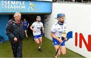17 June 2018; Michael Walsh of Waterford runs out for his record breaking 74th consecutive Hurling Championship appearance ahead of the Munster GAA Hurling Senior Championship Round 5 match between Waterford and Cork at Semple Stadium in Thurles, Tipperary.Photo by Matt Browne/Sportsfile
