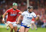 17 June 2018; Jake Dillon of Waterford in action against Eoin Cadogan of Cork during the Munster GAA Hurling Senior Championship Round 5 match between Waterford and Cork at Semple Stadium in Thurles, Tipperary. Photo by Matt Browne/Sportsfile