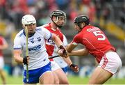 17 June 2018; Tom Devine of Waterford in action against Christopher Joyce of Cork during the Munster GAA Hurling Senior Championship Round 5 match between Waterford and Cork at Semple Stadium in Thurles, Tipperary. Photo by Matt Browne/Sportsfile