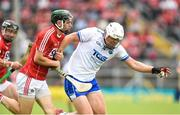 17 June 2018; Tom Devine of Waterford in action against Mark Coleman of Cork during the Munster GAA Hurling Senior Championship Round 5 match between Waterford and Cork at Semple Stadium in Thurles, Tipperary. Photo by Matt Browne/Sportsfile