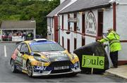 17 June 2018; Sam Moffett and Karl Atkinson in a Ford Fiesta R5 during stage 17 Glen the Joule Donegal International Rally - Day 3 in Letterkenny, Donegal. Photo by Philip Fitzpatrick/Sportsfile