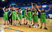 17 June 2018; The  Connaught Female Team 1 team celebrate after winning in the Ladies Basketball Final match between Connaught Female 1 and Eastern Female 2 during the Special Olympics 2018 Ireland Games at the FAI National Training Centre in Abbotstown, Dublin. Photo by Tom Beary/Sportsfile