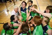 17 June 2018; The Connaught Female Team 1 team celebrate with Volunteer Colm McAree after winning in the Ladies Basketball Final match between Connaught Female 1 and Eastern Female 2 during the Special Olympics 2018 Ireland Games at the FAI National Training Centre in Abbotstown, Dublin. Photo by Tom Beary/Sportsfile