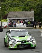 17 June 2018; Manus Kelly and Donall Barrett in a Subaru Impreza WRC S12B during stage 17 Glen in the Joule Donegal International Rally - Day 3 in Letterkenny, Donegal. Photo by Philip Fitzpatrick/Sportsfile