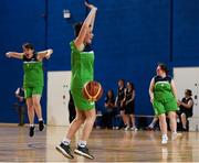 17 June 2018; Shauna Stewart of Connaught Female 1 Team celebrates following the Ladies Basketball Final match between Connaught Female 1 and Eastern Female 2 during the Special Olympics 2018 Ireland Games at the FAI National Training Centre in Abbotstown, Dublin. Photo by Tom Beary/Sportsfile