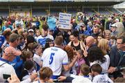 17 June 2018; Michael Walsh of Waterford meets supporters after the Munster GAA Hurling Senior Championship Round 5 match between Waterford and Cork at Semple Stadium in Thurles, Tipperary. Photo by Matt Browne/Sportsfile