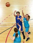 17 June 2018; Clare Murphy from the Leinster Female Team 1 shoots for a basket in the Ladies Basketball Final match between Eastern Female 1 and Leinster Female 1 during the Special Olympics 2018 Ireland Games at the FAI National Training Centre in Abbotstown, Dublin. Photo by Tom Beary/Sportsfile