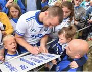 17 June 2018; Michael Walsh of Waterford signs an autograph for Beth Ryan, age 5, and her father Derek, from Waterford, after the Munster GAA Hurling Senior Championship Round 5 match between Waterford and Cork at Semple Stadium in Thurles, Tipperary. Photo by Matt Browne/Sportsfile