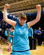 17 June 2018; Anita Forde of Eastern Female Team 1 celebrates after the Ladies Basketball Final match between Eastern Female 1 and Leinster Female 1 during the Special Olympics 2018 Ireland Games at the FAI National Training Centre in Abbotstown, Dublin. Photo by Tom Beary/Sportsfile