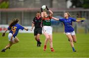 17 June 2018; Niamh O'Malley of Mayo in action against Alannah Devereux, left, and Kate Moore of Tipperary during the All-Ireland Ladies Football U14 B Final between Mayo and Tipperary at Duggan Park in Ballinasloe, Co. Galway. Photo by Harry Murphy/Sportsfile