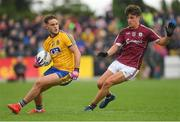 17 June 2018; Ultan Harney of Roscommon in action against Seán Kelly of Galway during the Connacht GAA Football Senior Championship Final match between Roscommon and Galway at Dr Hyde Park in Roscommon. Photo by Piaras Ó Mídheach/Sportsfile