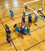 17 June 2018; Marion Flood of Leinster Female Team 1 shoots for a basket in the Ladies Basketball Final match between Eastern Female 1 and Leinster Female 1 during the Special Olympics 2018 Ireland Games at the FAI National Training Centre in Abbotstown, Dublin. Photo by Tom Beary/Sportsfile
