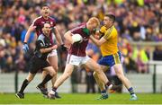 17 June 2018; Declan Kyne of Galway is tackled by Cathal Cregg of Roscommon during the Connacht GAA Football Senior Championship Final match between Roscommon and Galway at Dr Hyde Park in Roscommon. Photo by Ramsey Cardy/Sportsfile