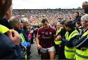 17 June 2018; Galway captain Damien Comer is congratulated following the Connacht GAA Football Senior Championship Final match between Roscommon and Galway at Dr Hyde Park in Roscommon. Photo by Ramsey Cardy/Sportsfile