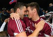17 June 2018; Damien Comer, left, and Shane Walsh of Galway following the Connacht GAA Football Senior Championship Final match between Roscommon and Galway at Dr Hyde Park in Roscommon. Photo by Ramsey Cardy/Sportsfile