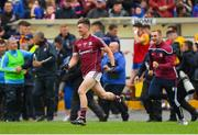 17 June 2018; Johnny Heaney of Galway celebrates after the Connacht GAA Football Senior Championship Final match between Roscommon and Galway at Dr Hyde Park in Roscommon. Photo by Piaras Ó Mídheach/Sportsfile