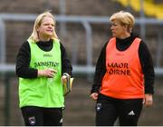 17 June 2018; Armagh joint managers Lorraine McCaffrey and Fionnuala McAtamney ahead of the TG4 Ulster Ladies Football Senior Championship Final match between Armagh and Donegal at Brewster Park in Enniskillen, Co. Fermanagh. Photo by Daire Brennan/Sportsfile