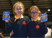 18 June 2018; Saoirse Lally, left, and Mia Carey of Barnatra National School, Ballina, County Mayo, at the JEP National Showcase Day in the RDS Simmonscourt, Ballsbridge, Dublin. Photo by Eóin Noonan/Sportsfile
