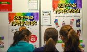 18 June 2018; Attendees inspect the 'Drumcong Phonecases' stand by pupils of St Brid's Drumcong National School in Carrick On Shannon, Co Leitrim, at the JEP National Showcase Day in the RDS Simmonscourt, Ballsbridge, Dublin Photo by David Fitzgerald/Sportsfile