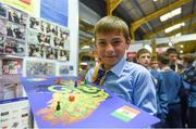 18 June 2018; Jack Breen of Muire Is Gearard National School, Enniskerry, County Wicklow, at the Marking and Maps stand during the JEP National Showcase Day in the RDS Simmonscourt, Ballsbridge, Dublin. Photo by David Fitzgerald/Sportsfile