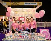 18 June 2018; Students from Kilbrinn National School, Kanturk, Co. Cork, with their teacher Lisa Lenihan, at the Capiche Cosmetics Bath Bombs stand during the JEP National Showcase Day in the RDS Simmonscourt, Ballsbridge, Dublin. Photo by Eóin Noonan/Sportsfile