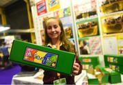 18 June 2018; Molly Crotty Noonan of Ballygiblin National School, Ballygiblin, Co Cork, from 'The Positivity Box' stand at the JEP National Showcase Day in the RDS Simmonscourt, Ballsbridge, Dublin. Photo by David Fitzgerald/Sportsfile
