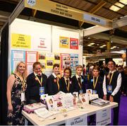 18 June 2018; Students from Scoil Eanna, Montenotte, Cork, with their teacher Mary Sheehan, at the Cool Cardz stand during the JEP National Showcase Day in the RDS Simmonscourt, Ballsbridge, Dublin. Photo by Eóin Noonan/Sportsfile
