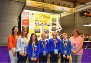 18 June 2018; Students from Derrinacahara National School, Dunmanway, Cork with their teacher Gabrielle Crowley at the JEP National Showcase Day in the RDS Simmonscourt, Ballsbridge, Dublin. Photo by Eóin Noonan/Sportsfile